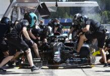 Valtteri Bottas, pit stop