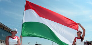 hungarian flag, hungaroring