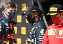 Max Verstappen, Lewis Hamilton, Charles Leclerc