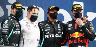 Valtteri Bottas, Peter Bonnington, Lewis Hamilton, Max Verstappen