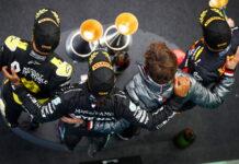Daniel Ricciardo, Lewis Hamilton, Max Verstappen