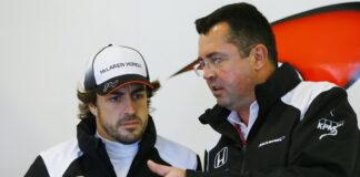 Fernando Alonso, Eric Boullier.