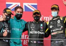 Valtteri Bottas, Leo Stevens, Lewis Hamilton, Daniel Ricciardo