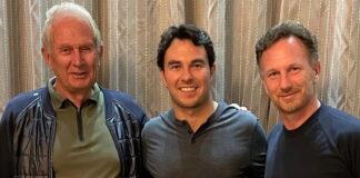 Helmut Makro, Sergio Perez, Christian Horner