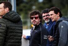 Alex Wurz, Fernando Alonso, Luis Garcia Abad, Pedro De La Rosa