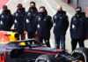 Sergio Perez, Max Verstappen, Alexander Albon, Christian Horner, Adrian Newey, Pierre Wache