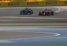 Lewis Hamilton, Max Verstappen, turn 4, Bahrain