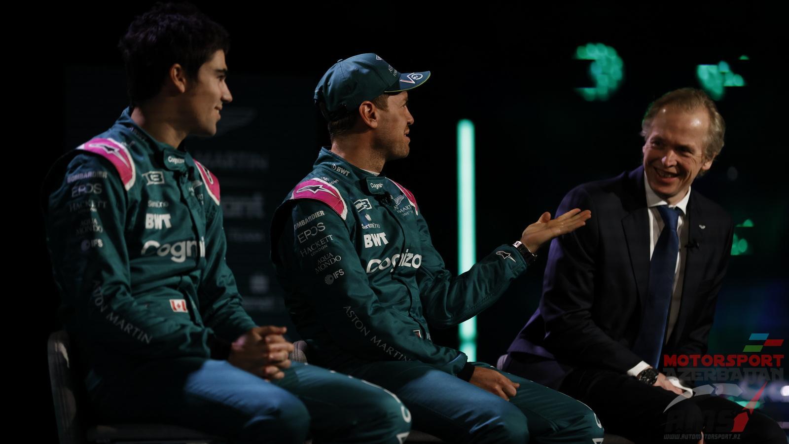 Lance Stroll, Sebastian Vettel, Andrew Green