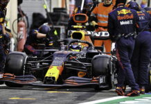 Sergio Perez, pit stop