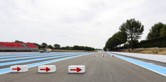 the chicane on the Mistral straight.French Grand Prix, Paul Ricard