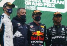 George Russell, Max Verstappen, Lewis Hamilton