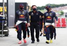 Max Verstappen, Christian Horner, Sergio Perez