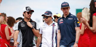 Sergio Perez, Felipe Massa, Max Verstappen