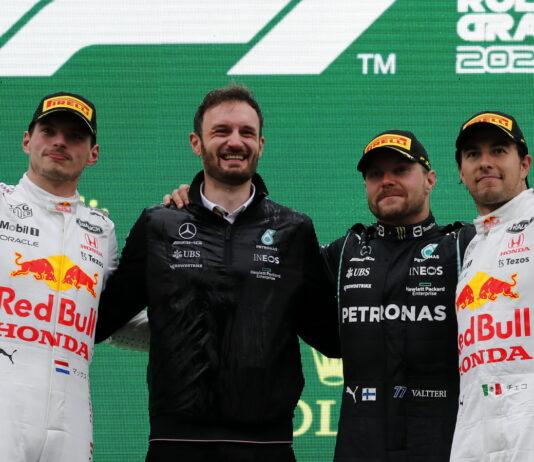 Max Verstappen, Valtteri Bottas, Sergio Perez